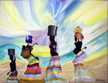 """""""African Ballet"""" 20"""" x 16"""" NFS"""