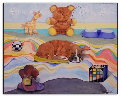 """Bullies at Play"" 16"" x 20"" SOLD"
