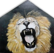 """Big Roar"" Colored Pencil on Wood 24"" x 24"" $1150"