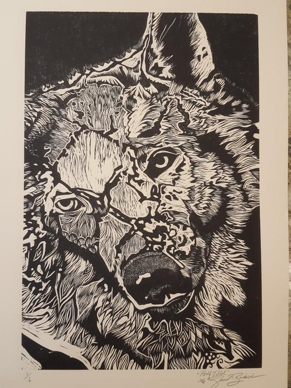 half-wild-15%22-x-22%22-woodcut-print-on-paper